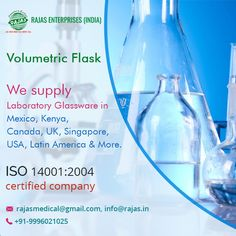 We offer our valuable clients Laboratory Flask, Volumetric Flask, Laboratory Glassware at reasonable prices.