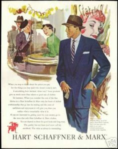 An ad from the era when Murder at the Bourbon Club is set - the suit cut is classic and the hat a must! Murder at the Bourbon Club is available at http://www.shotinthedarkmysteries.com