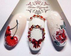 50 Beautiful Stylish and Trendy Nail Art Designs for Christmas Winter Nail Art, Winter Nail Designs, Christmas Nail Designs, Christmas Nail Art, Winter Nails, Nail Art Designs, Xmas Nails, New Year's Nails, Holiday Nails