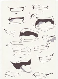 How+to+Draw+Anime+Lips | mouths i by saber xiii manga anime traditional media drawings 2012 ...