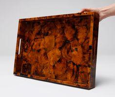 HORTON: Tray formed of young pen shell. #madegoods #homedecor #objects #tray #decorative