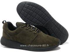 wholesale dealer 67dc3 cebe6 Nike Roshe Run pour Homme Brun Nike Roshe Run Bleu Et Rouge