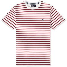Fred Perry Breton Stripe Tee ($51) ❤ liked on Polyvore featuring men's fashion, men's clothing, men's shirts and men's t-shirts