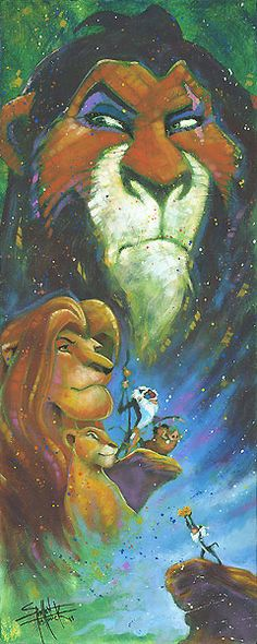 The Lion King - Wicked Brother - Stephen Fishwick - World-Wide-Art.com