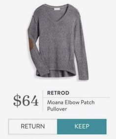 Stitch Fix Retrod Moana Elbow Patch Pullover
