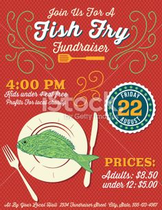 Free fish fry flyer templates fish fry poster fish fry for Fish fry menu ideas