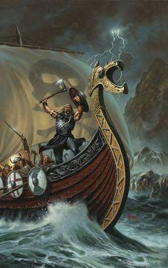 Viking Ship Tattoo, Viking Tattoo Sleeve, Norse Tattoo, Viking Tattoos, Norwegian Vikings, Nordic Vikings, Viking Art, Viking Warrior, Scandinavian Tattoo