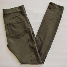 """Gap 1969 Ponte Knit Legging Jean 27 4 Olive Green skinny Jegging Pants Denim 30"""" #GAP #LeggingsSlimSkinny"""