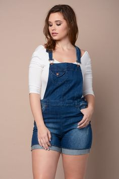 79d893f4c3e Torrid Overall Shorts – Light Wash with Destruction From the Plus ...