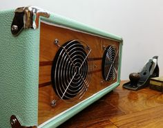"""Bluetooth Speaker Handmade Retro Vintage Wood """"V-30"""" Reclaimed Cherry Hi-Fi, iPad, iPod, iPhone, Android. Free shipping to the lower 48"""