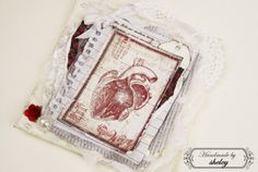 """Scrapbook card """"Oh, you, a little broken heart, I have to find all of your pieces ..."""""""