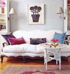 pretty white sofa
