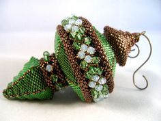 Pattern / Tutorial Beaded Christmas Ornament by ChristmasCreation, $25.00