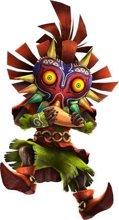 Skull Kid Ocarina Artwork from the official artwork for #Hyrule Warriors Legends #Zelda http://www.zelda-temple.net/games/spin-off-zelda-games-on-consoles