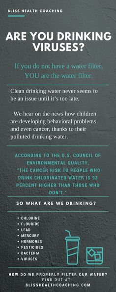 Our bodies are 70% water. Clean water isn't a want, it's a NEED. If you don't have a water filter, YOU are the water filter.