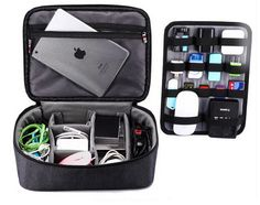 Description: 100% Waterproof Shockproof Travel Storage Organizing Bag for digital products and accessories such as camera lens, iPad, Laptop, Mobile HDD, Power
