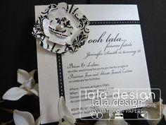 Black and white flower 33rd birthday invitation