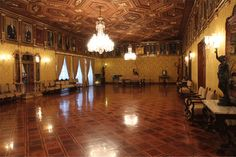 Dance Hall, also known as Yellow/Presidents Salon - Carondelet Palace, government house of Ecuador (Quito).