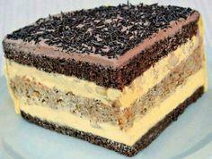 Cukrářský skvost, přezdívaný Paříž v plamenech Czech Desserts, Sweet Desserts, Healthy Desserts, Sweet Recipes, Delicious Desserts, Cake Recipes, Albanian Recipes, Czech Recipes, Food Cakes