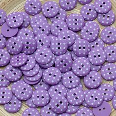 polka dotted buttons.