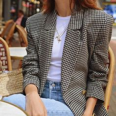 How to use a blazer with denim to create a chic outfit