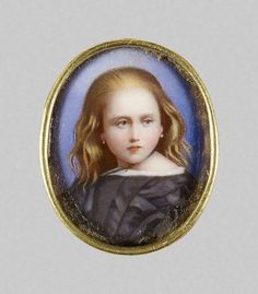 William Charles Bell, Princess Beatrice later Princess Henry of Battenberg 1862 Queen Victoria Children, Queen Victoria Prince Albert, Victoria And Albert, Princess Victoria, Renaissance, Victoria's Children, Miniature Portraits, Miniature Paintings, Victorian Portraits