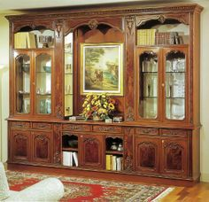 german oak wall unit schrank entertainment center imported from