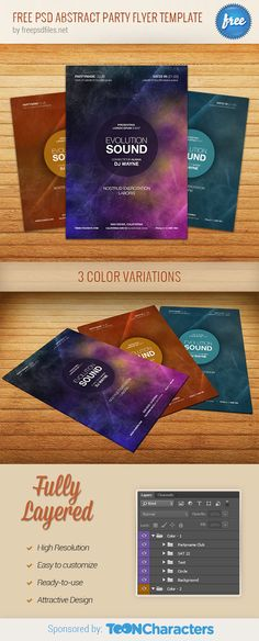Free PSD abstract party flyer template designed in modern and clean style. What we have here is a great flyer template that could come in handy of any commercial uses. Download the fully layered psd sources and use them for your next design projects. Continue reading →