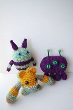 Monster and Aliens Crochet pattern PDF