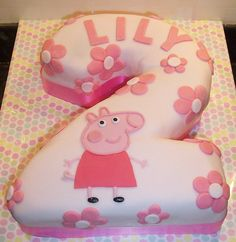 Peppa Pig Cake by Honeywell Designs, via Flickr