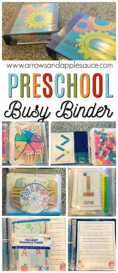 There's non-stop educational fun packed into these preschool busy binders. Tons of activities neatly organized and easily accessible in each busy binder. education Our Homeschool Day: Preschool Busy Binder Preschool Learning Activities, Preschool At Home, Preschool Lessons, Preschool Kindergarten, Infant Activities, Toddler Preschool, Preschool Crafts, Preschool Printables, Preschool Binder