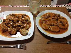 Beef goulash with bread dumplings :)