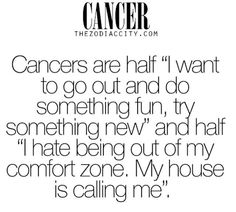 #Cancers - This is true. Very true! But for me it varies a lot, some days the ration in that order is like... 10:90, whereas other days it can be 90:10!