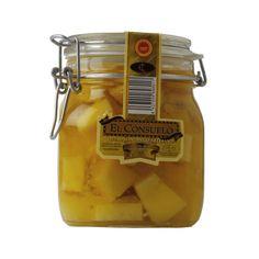 QUESOS EL CONSUELO : El Consuelo - Aceite tarro 900g Queso Manchego, Mustard, Food, Raw Milk, Crimping, Essen, Mustard Plant, Meals, Yemek