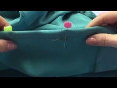 come cucire un orlo invisibile con il sottopunto - YouTube