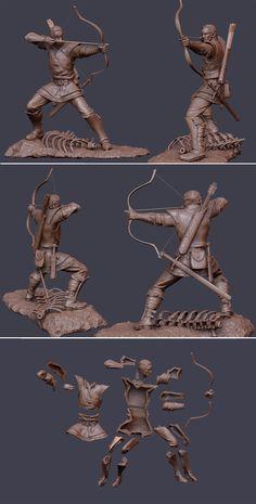 ArtStation - Pontosh, the archer, Laslo Forgach