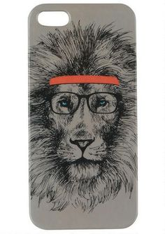 Hipster Lion iPhone 5 Case - Tech & Phone Cases - Accessories - dELiA*s