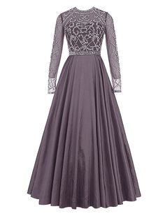 """Wedtrend Women's Prom Dress with Sleeves Evening Dress with Beads WT11040Grey 26W. Please Use The Size Chart Image on the Left. Do not use Amazon's """"Size Chart"""" link. Beading decoration, empire line, zip back stylish, confortable fabric. Hand wash in warm water. Hang to dry. Iron under warm and low temperature. Padded bra for """"no-bra"""" option. Ignore the time set automatically by Amazon. Processing needs 7-10 days. Delivery takes 3-5 days."""