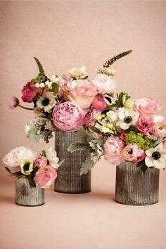 D co de table rose et vert d 39 eau tr s romantique for Bouquet de fleurs wine