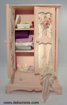 how to: shabby chic armoire