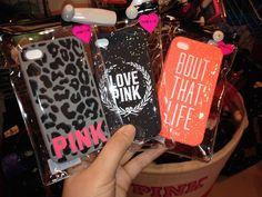 Pink/ Victoria secret I phone cases