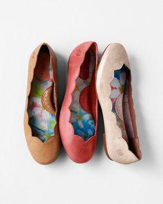 Børn Twyla Scalloped Ballet Flats