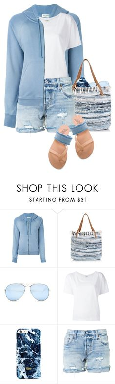 """""""Denim Blues"""" by hollowpoint-smile ❤ liked on Polyvore featuring Yves Saint Laurent, New Look, GUESS, Levi's and Ancient Greek Sandals"""