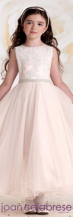 Joan Calabrese for Mon Cheri - Style No. 115302 #flowergirldresses calabresegirl.com