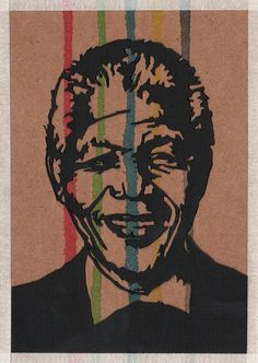 'mandela' handmade postcard designs #postcard #handmade #paper #craft #southafrica Postcard Design, Nelson Mandela, Beautiful Paintings, Paper Craft, Postcards, Handmade, Crafts, Products, Hand Made