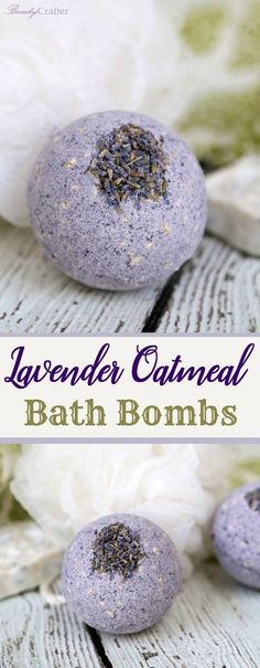 Lavender Oatmeal Bath Bombs Recipe for a relaxing skin soothing bath. Great DIY gift! #diygifts