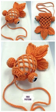 Crochet Fish Bag Kostenlose Muster Round Up Crochet Little Go . - Crochet Fish Bag Free Patterns Round Up Häkeln Sie Little Gold Fish Easter - Crochet Gifts, Crochet Toys, Free Crochet, Knit Crochet, Crochet Animals, Crochet Slippers, Crochet Easter, Crochet Things, Crochet Round