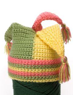 Yarnspirations.com - Caron Crochet Tripod Hat - Patterns | Yarnspirations