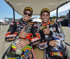 WSBK 2015 Laguna Seca - The Aprilia Racing Team.  #aprilia #bearacer #USWorldSBK