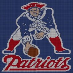 Patriots Crochet Afghan Pattern Free : Free Download New England Patriots Nfl Afghan Crochet ...